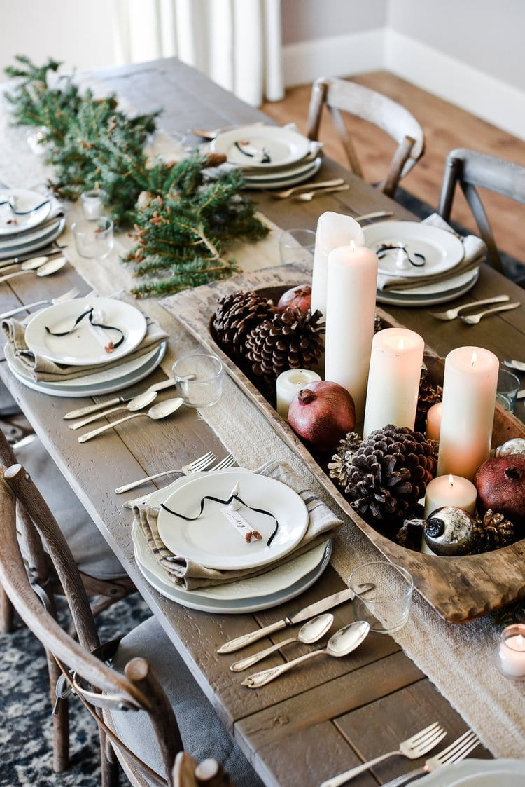 Photo of holiday tablescape from Boxwood Avenue.