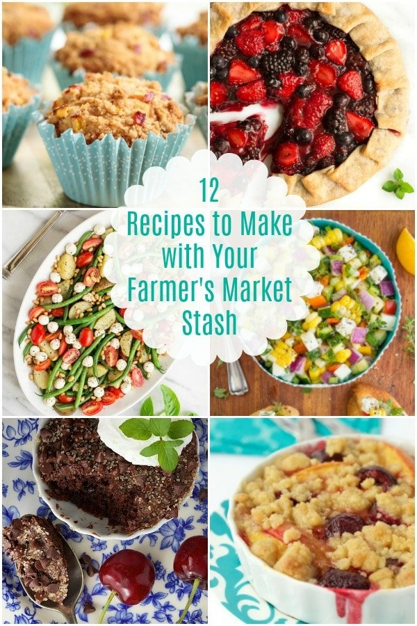 What to Make with Your Farmer\'s Market Stash- Tons of delicious recipes to use your fresh summer produce! #farmersmarket #summerproduce #freshfood #summerrecipes