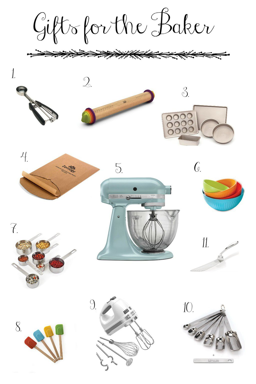 Images of our gift guides for the baker