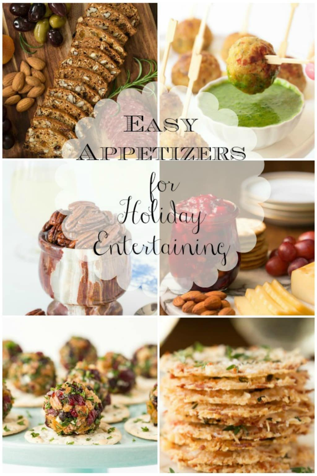 Holiday Appetizers Collage
