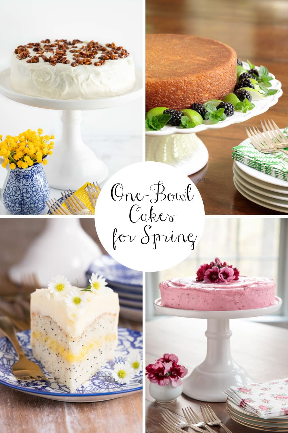 Easy One-Bowl Cakes for Spring Baking