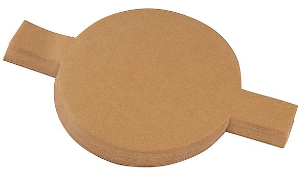 Stock photo of precut parchment cake pan liners.