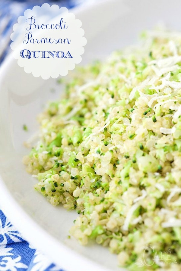 What if you could serve a broccoli dish so delicious that everyone at the table would be begging for more? This one\'s quick, easy, healthy and a real crowd pleaser! #quinoa #broccoli #healthyrecipes #quinoarecipes