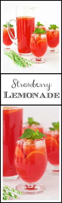 "Strawberry Lemonade - easy, homemade lemonade from scratch. T's incredible and truly the ""essence"" of summer!"
